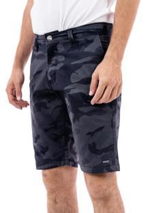 Bermuda Porto & Co Tecido Comfort Cinza
