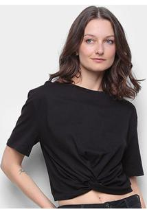 Camiseta Colcci Detalhe Transpassado Feminina - Feminino