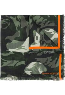 Alexander Mcqueen Echarpe 'Camouflage Rose' - Verde