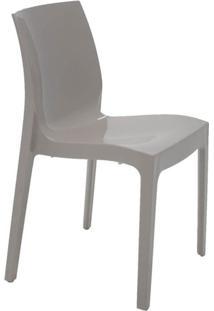 Cadeira Com Encosto Fechado Brilhosa Alice Summa Camurça