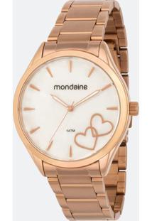 Relógio Feminino Mondaine 53723Lpmgre3K Analógico 5Atm + Conjunto Semijóia