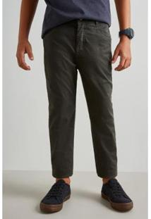Calça Mini Sm Forrada Reserva Mini Masculina - Masculino-Verde Escuro