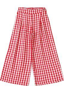 Calça Lilica Ripilica Infantil Xadrez 10100473 Vermelho - Tricae