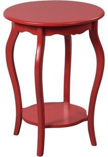 Mesa De Apoio Redonda 50X50 Cm Vermelho