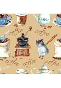 Papel De Parede Adesivo Coffe Retrô (0,58M X 2,50M)