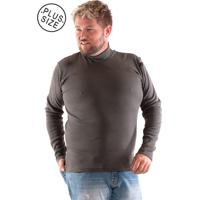 92cd611ec8 Camiseta Konciny Gola Alta Plus Size Musgo