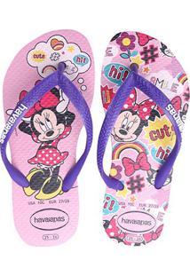 Chinelo Infantil Havaianas Kids Disney Cool - Masculino-Rosa Claro