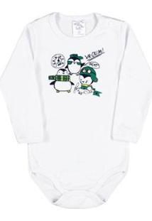 Body Bebê Meninoribana - Masculino-Branco