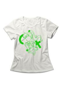 Camiseta Feminina Sailor Jupiter Off-White