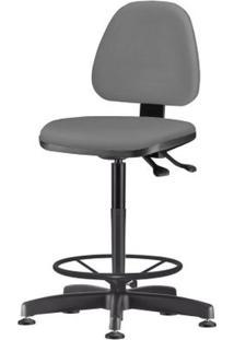Cadeira Sky Assento Courino Cinza Escuro Base Caixa Fixa Metalica Preta - 54819 - Sun House