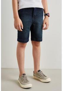 Bermuda Infantil Reserva Mini Sm Casual Jeans Masculina - Masculino-Azul Petróleo