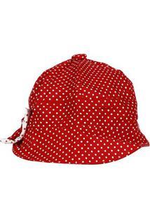 Chapéu Infantil Para Bebê Menina - Vermelho