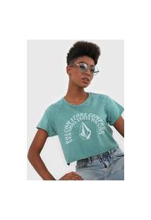 Camiseta Volcom Ringer Verde