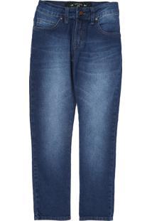 Calça Jeans Colcci Fun Infantil Estonada Azul