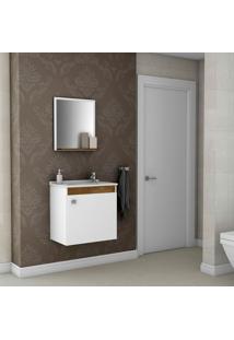Conjunto Para Banheiro Siena - Bechara - Madeira Rústica / Branco