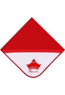 Manta Princesa Vermelha - P - Vermelho - Príncipes E Princesas Padroeira Baby