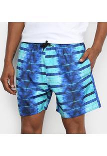 Bermuda Rangiroa Listrada Masculina - Masculino-Azul