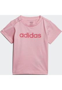 Camiseta Bebê Adidas I Lin Feminina - Feminino-Rosa