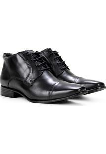 Sapato Social Couro Ferricelli Viena Masculino - Masculino-Preto