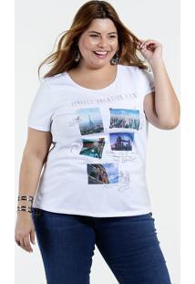 Blusa Feminina Plus Size Estampa Marisa