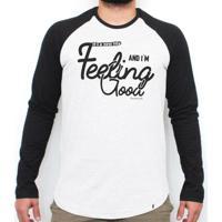 4f4d530602 El Cabriton. Feeling Good - Camiseta Raglan Manga Longa Masculina