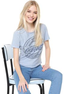 Camiseta Coca-Cola Jeans Listrada Azul
