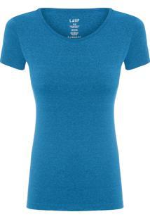 Camiseta Feminina Basic Color - Azul