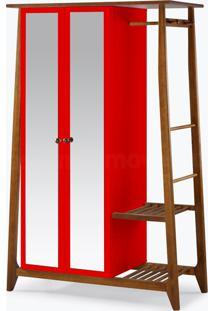 Armário/Roupeiro Multiuso Stoka - 2 Portas Vermelho Laca M48