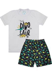 Pijama Manga Curta Infantil Menino Luna Cuore