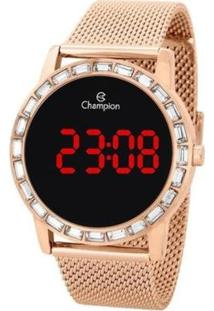 Relógio Champion Digital Ch40160Z Feminino - Feminino-Rosê