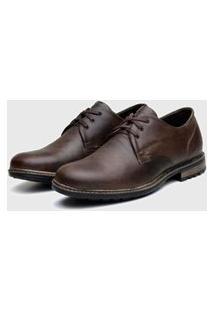 Sapato Em Couro Hayabusa Walkgt 180 Café