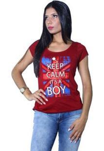 Camiseta Heide Ribeiro Keep Calm It'S A Boy Feminina - Feminino