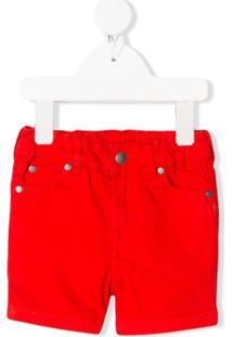 Stella Mccartney Kids Rainbow Smile Denim Shorts - Vermelho