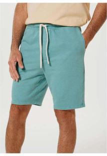 Bermuda Moletom Masculina Com Amarração Verde