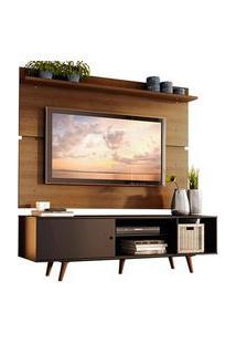 Rack Madesa Dubai E Painel Para Tv Até 65 Polegadas Com Pés Preto/Rustic 8N5Z Preto