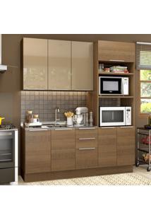 Cozinha Compacta 8 Portas Stella Florença Grte1900019Y Rustic/Crema - Madesa