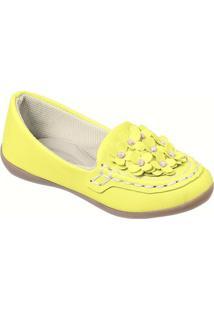 Mocassim Infantil Feminino - Feminino-Amarelo