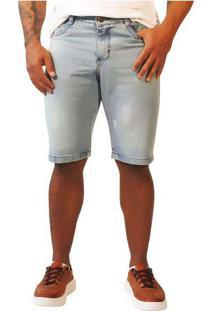 Bermuda Jeans Masculina Sandro Moscoloni Basic Azu