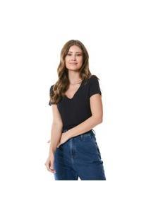 T-Shirt Feminina Básica Preta