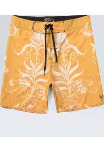 Bermuda Surf Masc Arabesco Color-Amarelo/ Offwhite - 38