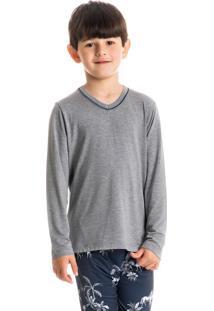 Pijama Infantil Masculino Longo Estampado Hipismo
