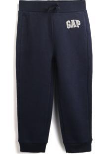 Calça De Moletom Gap Menino Logo Azul-Marinho