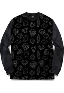 Blusa Bsc Full Diamond Full Print - Masculino