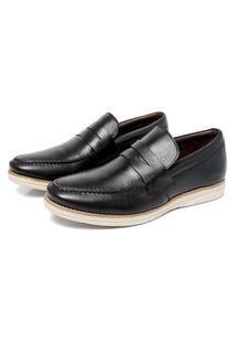 Sapato Masculino Preto Em Couro 9400