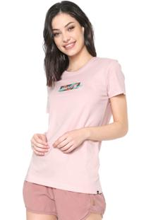Camiseta Hurley O&O Small Box Rosa