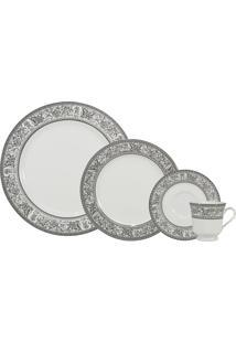 Aparelho De Jantar E Chá Porcelana Schmidt 30 Peças - Dec. Kate