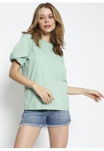 Camiseta Lisa Com Tag - Verde Claro - Colccicolcci