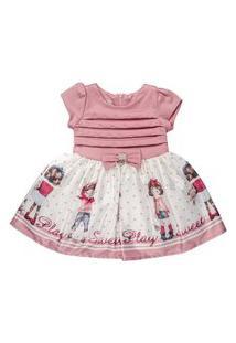 Vestido Infantil Chic Bonecas Rosê