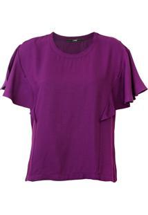Camiseta Forum Babados Roxo