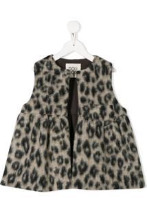 Douuod Kids Leopard Print Waistcoat - Neutro